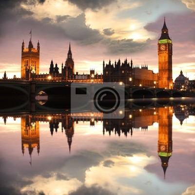 Big Ben in den Abend, London, UK