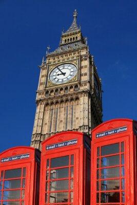 Big Ben mit Telefonzellen, London, UK