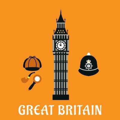 Poster Big Ben Turm und andere großbritannien Gegenstände