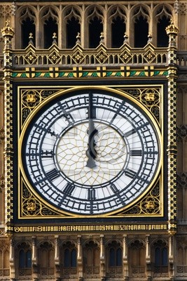Big Ben -Uhr nur mittags, London, UK