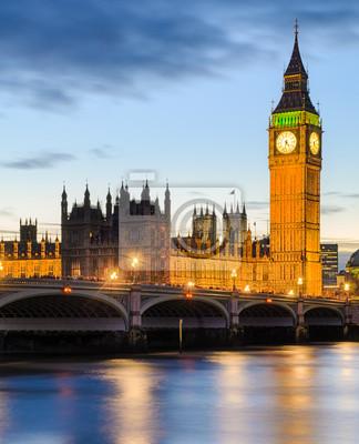 Big Ben und dem Palace of Westminster, London, UK