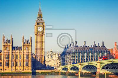 Big Ben und Westminster Brücke in London