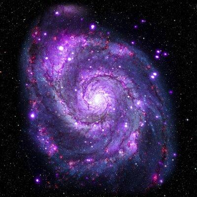 Poster Bild von Galaxy-System isoliert Elemente dieses Bildes von der NASA eingerichtet