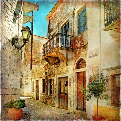 bildliche alten Straßen von Griechenland