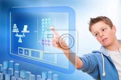 Bildung mit virtuellen Tafel.