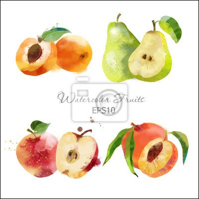 Birne, Apfel, Pfirsich, Satz