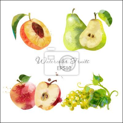 Birne, Apfel, Traube, Apeach