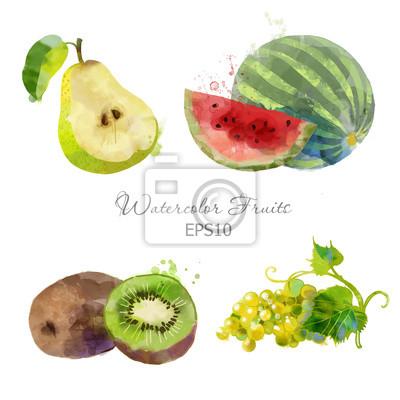 Birne, Melone, Kiwi, Weintraube
