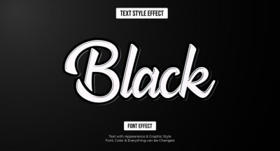 Poster Black text effect, Editable text effect