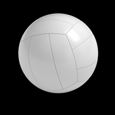 Poster Blank volleyball ball isolated with clipping path