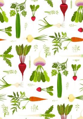Poster Blattgemüse und Greens nahtlose Muster Hintergrund