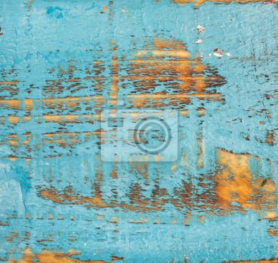 Blau Gemalt Alten Rustikalen Schabigen Holz Textur Und Hintergrund