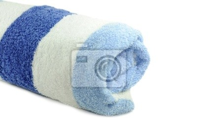 Blau Weisses Handtuch Wandposter Poster Badetuch Badehaus Leinen