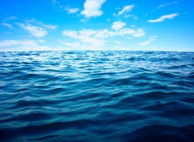 Poster Blaue Meerwasseroberfläche