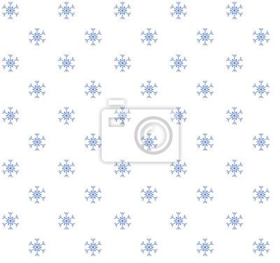Blaue Schneeflocken auf weißem Hintergrund