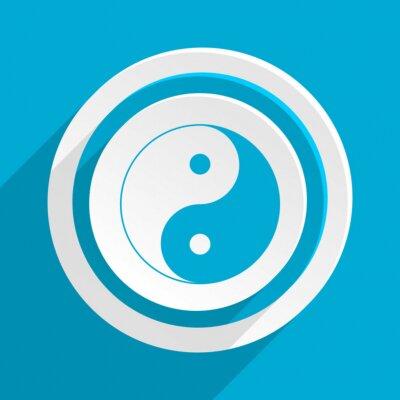 Poster Blauen flachen Vektor-Symbol
