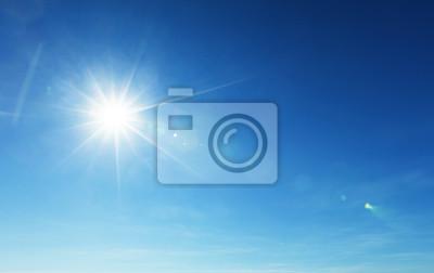 Poster blauer Himmel und Sonne