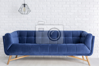 Blaues Sofa Und Phantasie Lampe Wandposter Poster Appartment