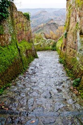 """Blick auf den Badlands in """"Civita di Bagnoregio"""", Italien."""
