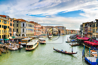 Blick auf den Canal Grande, Venedig
