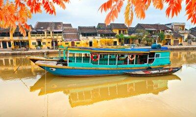 Poster Blick auf die Altstadt von Hoi An. Vietnam