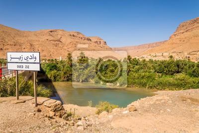 Blick auf die Oase der Stadt Oued Ziz - Marokko