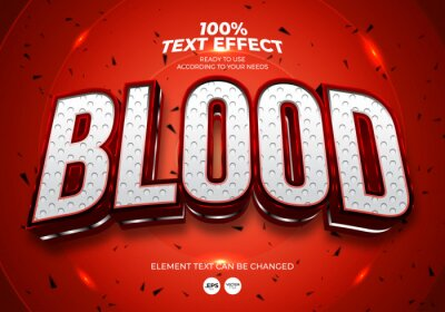 Poster Blood Editable Text Effect