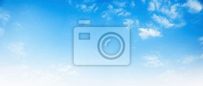 Poster blue sky with white cloud background