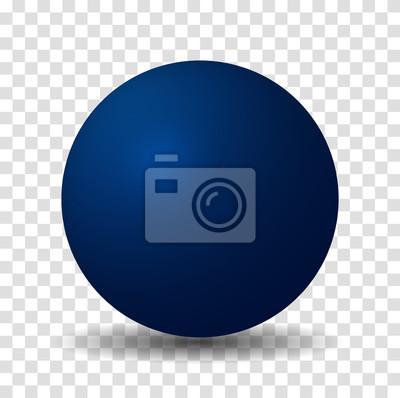 Poster Blue Sphere Ball