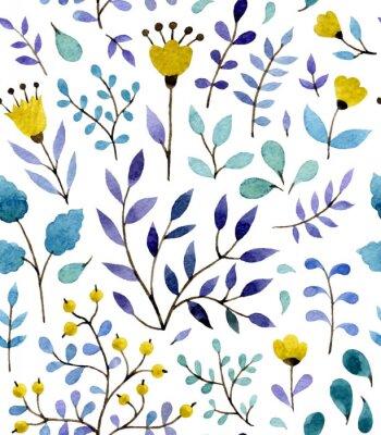 Poster Blumenmuster