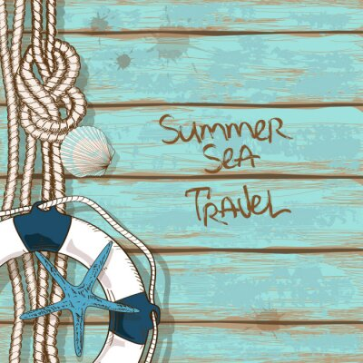 Poster Boards von Schiffsdeck Hintergrund