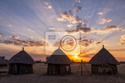 Boma Sonnenuntergang - Tansania