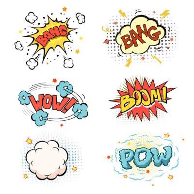 Poster Boom. Comic-Buch-Explosion gesetzt
