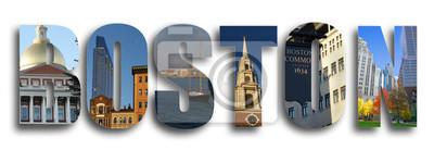 Boston Collage auf weiß