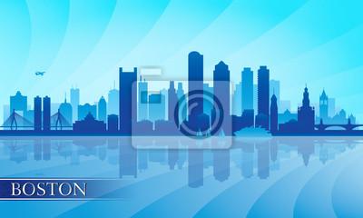 Boston Skyline der Stadt Silhouette Hintergrund