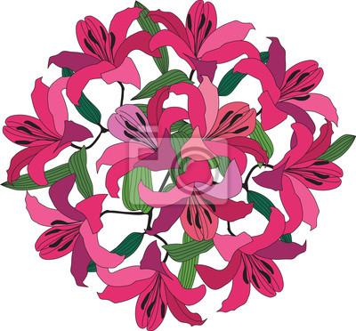 Bouquet aus rosa und Purpur Lilie
