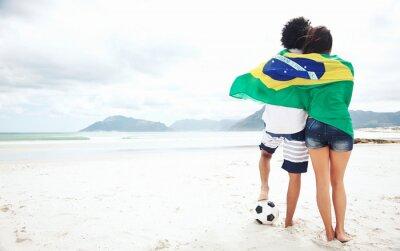 Poster Brasilien Fußball-Fans