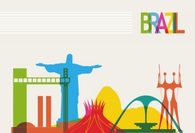 Poster Brasilien Tourismus Skyline