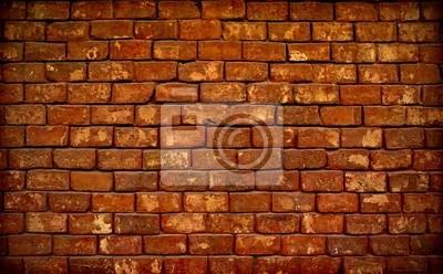 Poster braun briks Wand