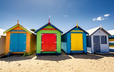 Poster Brighton Bay Strandhäuser