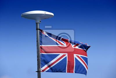 Britische Flagge an einem Mast