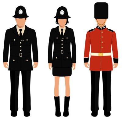 Poster Britischer schutz, englische leute, uk polizist