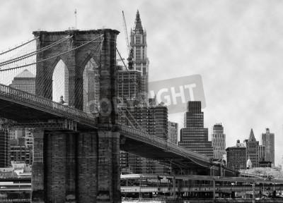 Poster Brooklyn Bridge New York and East River