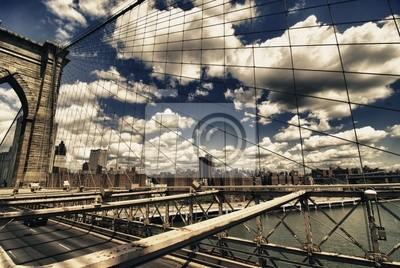 Brooklyn-Brücke Ansicht, New York City