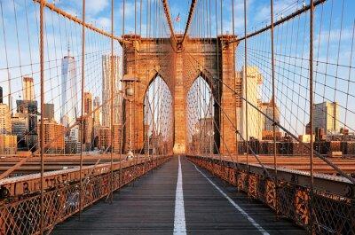 Poster Brooklyn-Brücke bei Sonnenaufgang, New York City, Manhattan