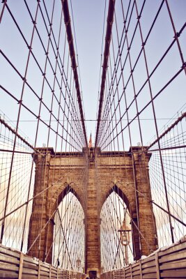 Poster Brooklyn-Brücke in New York