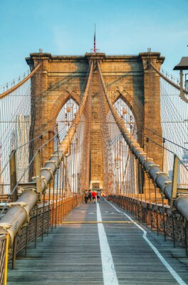 Poster Brooklyn-Brücke in New York City