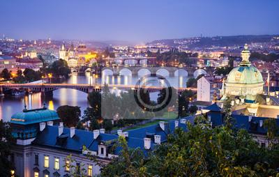 Brücken und Skyline von Prag, Tschechische Republik
