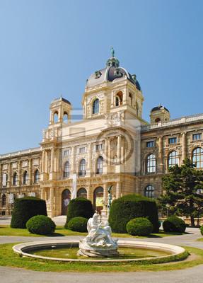 Brunnen vor dem Kunsthistorischen Museum in Wien, Aus