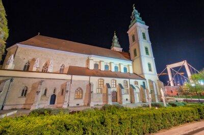 Budapest Inner City Church at night, Hungary